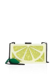 Alice Olivia Cindy Lemon Clutch Yellow