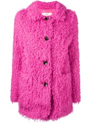 Vanessa Bruno Athe Short Buttoned Coat Pink And Purple