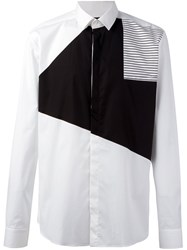 Les Hommes Colour Block Shirt White