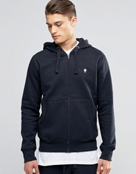 French Connection Logo Zip Through Hoodie Navy