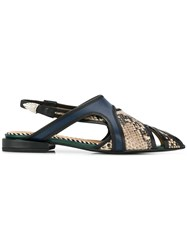 Toga Pulla Snakeskin Effect Sandals Natural