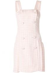 Versace Vintage Checked Dress Pink And Purple