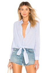 By The Way Carrie Button Up Blouse Blue