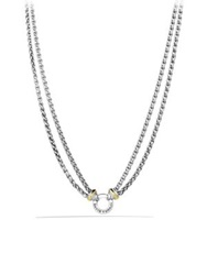 David Yurman Double Wheat Chain Necklace With Gold Silver Gold