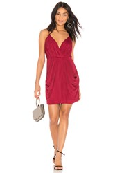 Bcbgeneration Faux Wrap Dress Burgundy