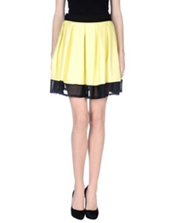 Noshua Knee Length Skirts Yellow