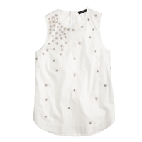 J.Crew Scattered Floral Sequin Shell