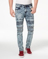Young And Reckless Men's Cezare Slim Fit Ripped Jeans Grey