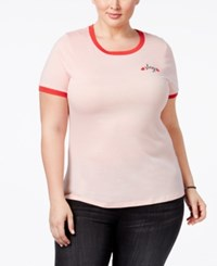 Mighty Fine Trendy Plus Size Slay Graphic T Shirt Pink