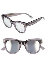 Spektre Women's 'She Loves You' 47Mm Sunglasses Grey Silver Mirror Grey Silver Mirror
