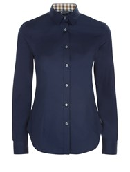 Aquascutum London Bowten Club Check Shirt Navy