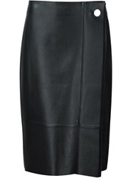 Grey Jason Wu Pleat Detail Pencil Skirt Black