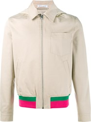J.W.Anderson Contrast Stripe Bomber Jacket Nude And Neutrals