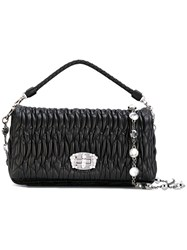 Miu Miu Quilted Clutch Bag Black