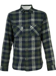 Alex Mill Chest Pockets Plaid Shirt Green