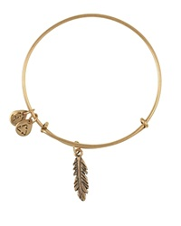 Alex And Ani Feather Bangle Rafaelian Gold