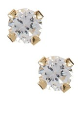 Candela 14K Yellow Gold Micro Cz Stud Earrings Metallic