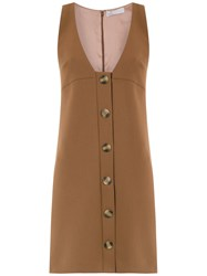 Spacenk Nk Button Up Dress Brown