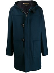 Paul Smith Ps Relaxed Fit Hooded Duffle Coat Blue