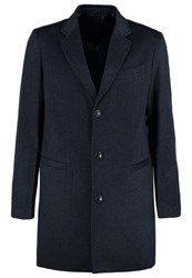 United Colors Of Benetton Classic Coat Mottled Navy Mottled Dark Blue