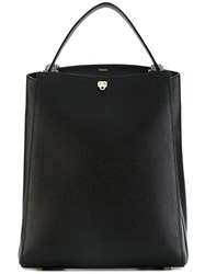 Valextra Top Handle Structured Backpack Women Calf Leather Leather One Size Black