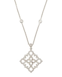 Penny Preville Square Diamond Lace Pendant Necklace