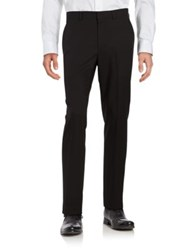 Kenneth Cole Reaction Straight Leg Pants Black Patent