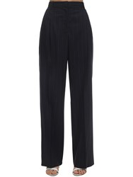 M Missoni Pinstriped Crepe Pants Navy