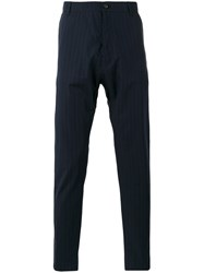 Antonio Marras Pinstripe Tapered Trousers Blue