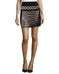 Philosophy Di Alberta Ferretti Beaded And Sequin Skirt Black