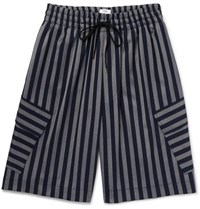Cmmn Swdn Cody Striped Woven Shorts Navy