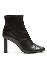 Joseph Block Heel Leather Ankle Boots Black