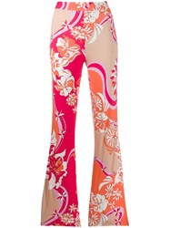 Emilio Pucci Floral Print Flared Trousers 60