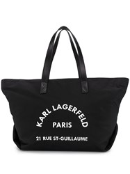 Karl Lagerfeld Rue St Guillaume Big Tote Black
