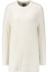 Mcq By Alexander Mcqueen Wool And Cashmere Blend Sweater Dress Cream