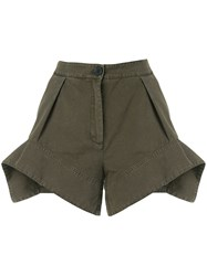 J.W.Anderson Jw Anderson Exploded Hem Shorts Green