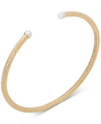 Giani Bernini Diamond Cut Cuff Bangle Stack Bracelet In Sterling Silver 18K Gold Or Rose Gold Plated Sterling Silver