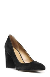 Sarto By Franco Sarto Women's 'Aziza' Block Heel Pump Black Suede