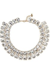 Rosantica Patto Gold Tone Crystal Necklace One Size