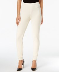 Style And Co Corduroy Leggings Created For Macy's Warm Ivory