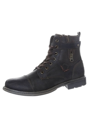 Dockers By Gerli Laceup Boots Cafe Dark Blue