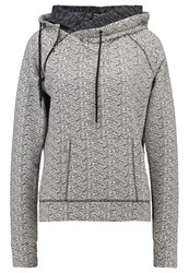 Superdry Hoodie Black White Dark Grey