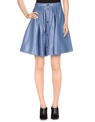 Miu Miu Skirts Knee Length Skirts Women Slate Blue