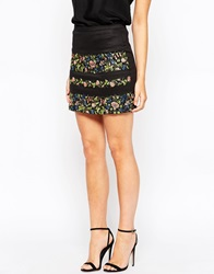 Oasis Embroidered Floral Mini Skirt Multi