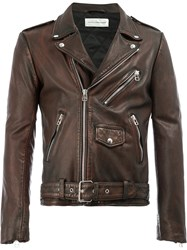 Faith Connexion Classic Biker Jacket Brown