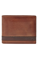 Fossil 'Quinn' Leather Wallet Brown