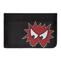 Mcq By Alexander Mcqueen Black Rave Monster Card Holder
