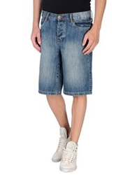 Fenchurch Denim Bermudas Blue