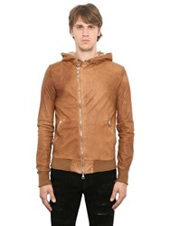 Giorgio Brato Washed Smooth Nappa Hooded Jacket