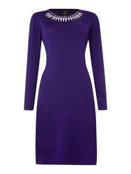 Simon Jeffrey Knitted Dress Purple